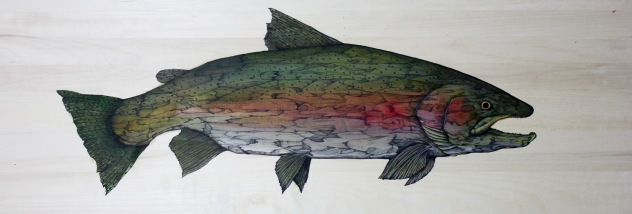 "Joey's Buck | 2017 | 48"" x 16"" 