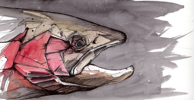 "Winter Chrome: Old Buck | 2012 | 12"" x 6"" 
