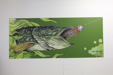 Into The Maw | 2012 | 14 feet x 6 feet | Mural at Pour Decisions | Brewery, Roseville MN.| NFS