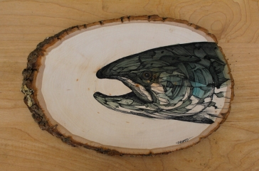 "Coho | 2016 | Approx. 9"" x 6"" 