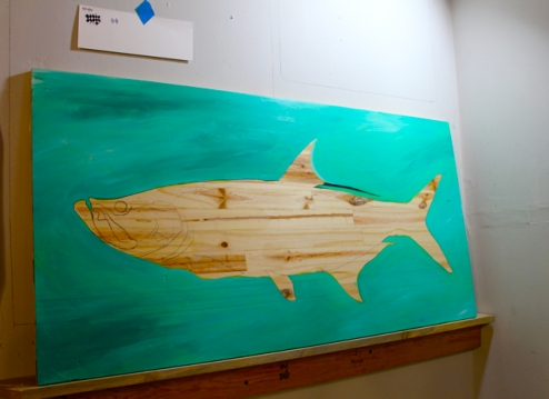 "Tarpon - in progress - 48"" x 24"""