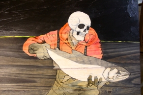 """Necromancer: Slint The Red-Hooded - in progress - 28"""" x 18"""""""