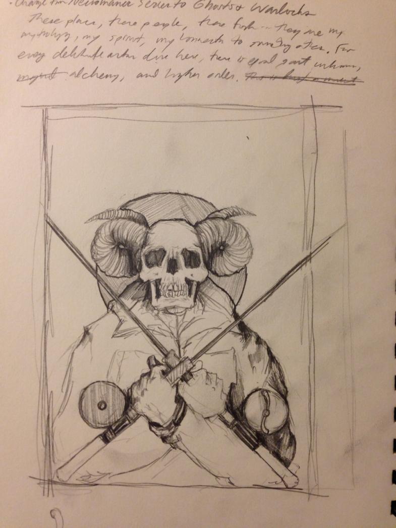 Sketch for upcoming Necromancer piece