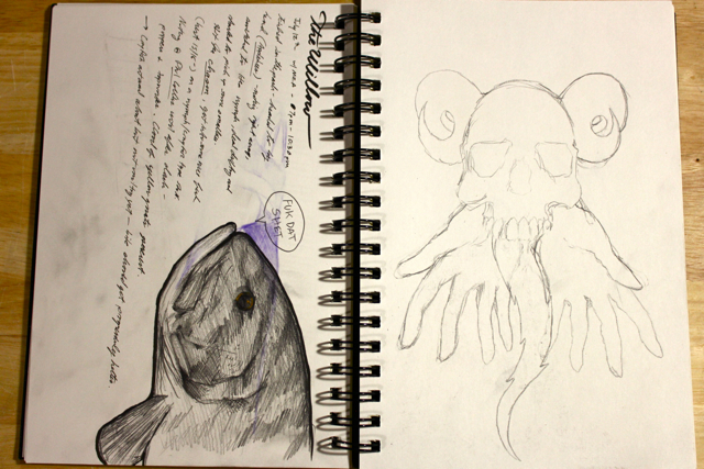 Smallie, notes from an outing the Willow River, and an idea that needs to jump out of the sketchbook