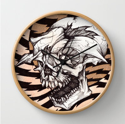 You can buys this..seriously. http://society6.com/JakeKeeler/Howler-qwx_Wall-Clock#33=282&34=286